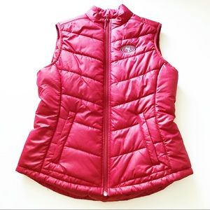 Cutter & Buck Puffer Jacket Vest SF 49ers womens S